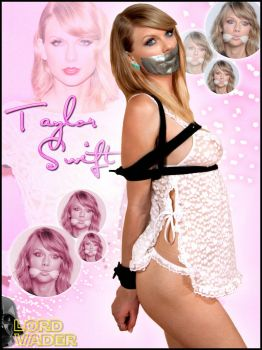 Taylor Swift bound, gagged for bed by lordvadersempire