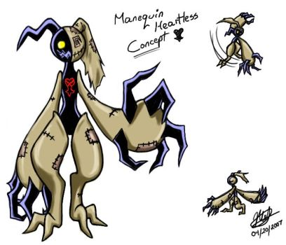 Manequin Heartless Concept by anime-arteest