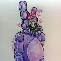 Genderbended Withered Bonnie (AT) by DominoBear