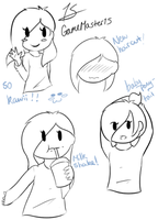 Sketches of MOI! (New haircut) by GameMaster15