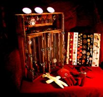 Part of Steampunk Ball Display by turnerstokens