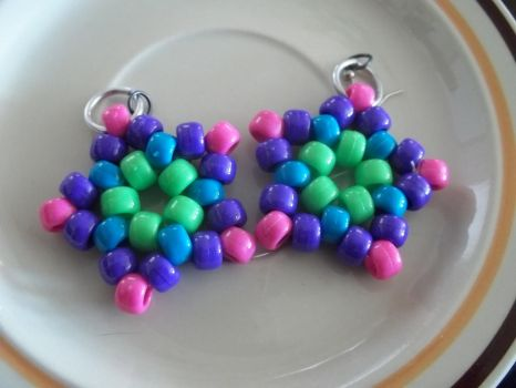 Kandi Star Earrings, Pair 1 by jenneilicious
