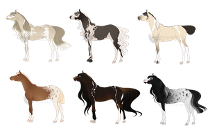 Mare Adoptable Batch [CLOSED] by Hyuuka-Adopts