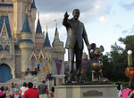 Walt and Mickey Welcomes Guests by WDWParksGal-Stock