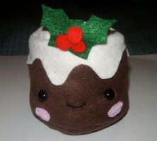 Christmas Pudding Plushie by kiddomerriweather