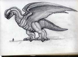 Giant monster concept 2010 by BartonDH
