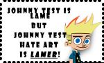 Johnny Test hate art stamp by HCShannon