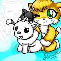 Stampy, Mittens, Duncan, and Gregory by charactor