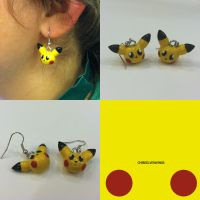 Pikachu Earrings by ChibiSilverWings