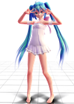 TDA Miku White Dress by YUMI-X01