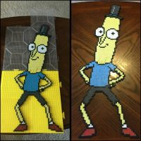 Mr. Poopy Butthole perler bead sprite. by jnjfranklin