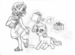 Nakama is Magic: Child Nami and Filly Rarity by Irie-mangastudios