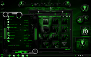 Windos 7 Theme Alien Tech (GREEN) by ToxicoSM