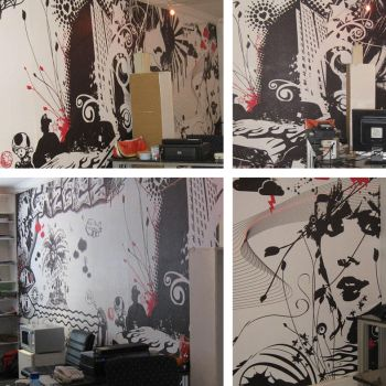 Office interior, applied by cherry-candi