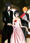 Byakuya - Rukia and Ichigo by Narusailor