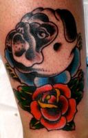 pug tattoo by xveganmafiax
