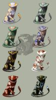 Ax Cat Adoptables by Pythosblaze