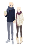 Fall Couple .:Base:. by animelover876