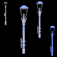 Lamp Post Model Renders 1 by Rubber-Rainbows