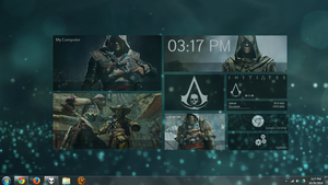 Assassin's Creed Black Flag Animus Omega Rainmeter by quadtrofang