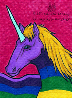 Lady Rainicorn ACEO by Imperius-Rex