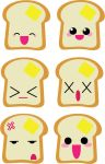 The many faces of Toast by Mokulen22