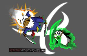 Clash of the Penguins - Limited Sale by KirbywithaMasamune