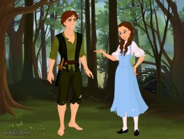 Peter Pan and Dorothy by MJDisneyGirl
