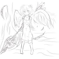 Angel sketch by Animeculture