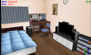 MMD Small bedroom -NO 3DCG picture on screen- by amiamy111
