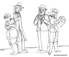 The Gang as Penelope Pitstop and the Anthill mob by brensey