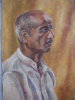 Potrait of an old man by Hemali