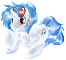 Crystal Vinyl Scratch by chatt3rbox