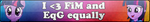 FiM and EqG equal love -Fan button by Fluttershy626