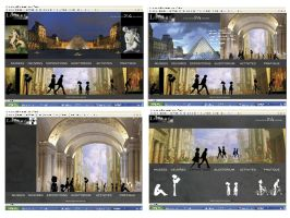 Web - Concept Musee du Louvre. by ALTERNATIVE-CREATION