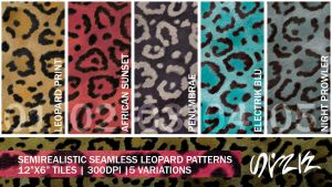 Semirealistic Seamless Leopard Patterns by s-a-n-i-m