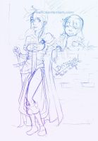 Neredia and Yanmei sketch by Deih