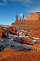 winter in monument valley by robpolder