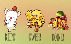 Cuddly Final Fantasy Monsters by Bloody-Alice