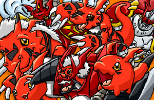 Guilmon Evoline by RexiDoodle