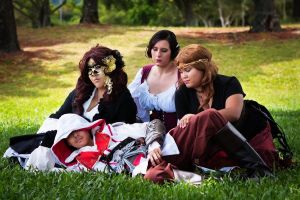 Ezio and his lady friends by Tokyo-Trends