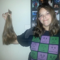 My hair I donated by CinnamintyAshes