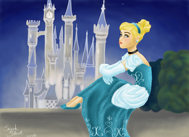 Cinderella in Thought by Blossom525