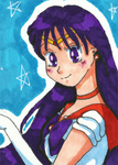 Sailor Mars ATC by Angie-Laura