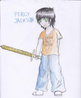 Challenge Drawing: Percy Jackson by pokemonlovinggirl