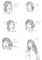Frozen:FaS doodles - Natalia expressions by Kira-Ani-McGrath