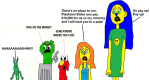 The Muppets Demand Money from Plankton by mjeddy