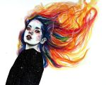 Phoenix girl by KlarEm