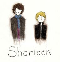 Sherlock and John by crystalcollecter