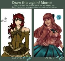 Before and After MEME: Esther by HikaruMcDonut